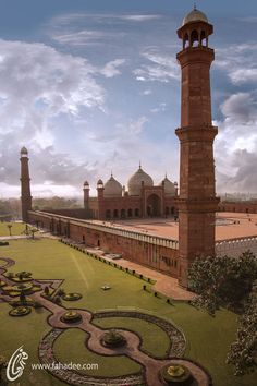 The Badshahi Mosque, Lahore, Pakistan http://www.arcon.pk/portfolio/house-for-dr-hasnain-at-dha-lahore-phase-6