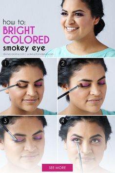 """When we hear """"smokey eye,"""" most of us picture something dark, deep and dramatic. Yet a smokey eye can be bright and colorful, too. Here's how to do a smokey eye in dreamy purple and magenta shades."""