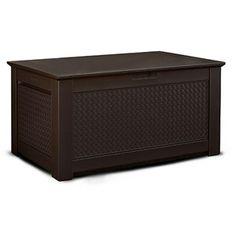 Rubbermaid Basketweave Deck Box, Dark Teak, Large
