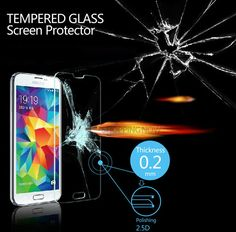 New Premium Tempered Glass Screen Protector For Samsung Galaxy Toughened protective film Samsung Galaxy S5, Tempered Glass Screen Protector, Film, Movie, Film Stock, Cinema, Films