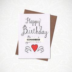 FUNNY Happy Birthday Btch Greeting Card by KatieNovakArt on Etsy