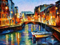 new! Evening River, St. Petersburg — PALETTE KNIFE by Leonid Afremov on  AfremovArtStudio, $449.00