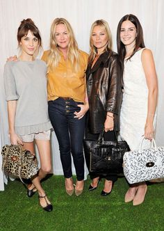 Alexa Chung, Emma Hill, Kate Moss and Lana Del Rey all in Mulberry at the Mulberry Front Row #lfw