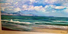 Playa de San Juan, Alicante. Pintura al óleo.