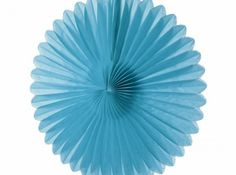 Turquoise paper daisy. Comes flat packed.  Easy to assemble.  Can be re-used if stored carefully and does not come into contact with moisture. Available from www.lovetheoccasion.com.au