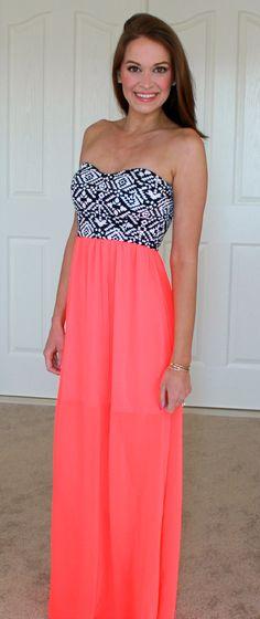 Neon Tribal Maxi Dress | BentleyBlonde | 10% OFF Coupon Code: SHORELINEREPWENDY http://www.shorelineboutique.com