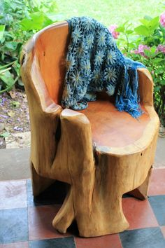 Accent Armchairs made from Salvaged Cypress Trees from Patagonia