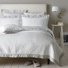 Genoa Bed Linen Collection - Putty from The White Company