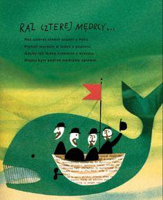 Illustration by Janusz Stanny; Author: Antoni Marianowicz; Title: Raz czterej mędrcy...
