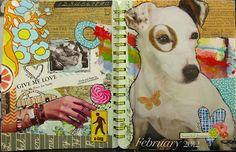 Her February collage
