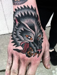 60 Traditional Hand Tattoo Designs for Men - Retro Ideas # Ideas . 60 Traditional Hand Tattoo Designs for Men - Retro Ideas # Ideas . Wolf Tattoos, Hand Tattoos, Tattoos Arm Mann, Neue Tattoos, Arm Tattoos For Guys, Trendy Tattoos, Tattoo Arm, Animal Tattoos, Wolf Tattoo Design