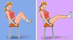 7 Exercises for a Flat Belly and a Thin Waist You Can Even Do While Sitting in a Chair 7 Exercises for a Flat Belly and a Thin Waist You Can Even Do While Sitting in a Chair Workout For Flat Stomach, Abs Workout For Women, Tummy Workout, Thin Legs Workout, Lose Fat Workout, Stomach Workouts, Men Exercise, Workout Men, Fat Burning Workout