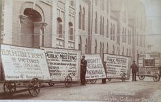 Postcard advertising Handwritten Posters - Any Shape,Size,Style,Color or Design c1905 Look carefully and you can see it is outside the Suttons Seed Stores in Reading
