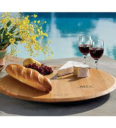 Wine Barrel Creations Inc Wine Barrel Head Lazy Susan With Barrel