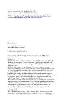 PROJETO DE INTERVENÇÃO PEDAGÓGICA NOS ANOS INICIAIS - 7º perio