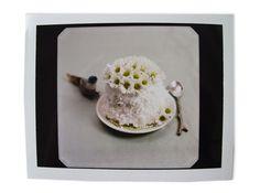 polaroid of small cake