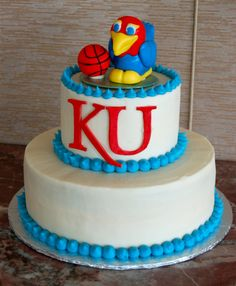Mike and Jessica's KU Jayhawks Groom's Cake