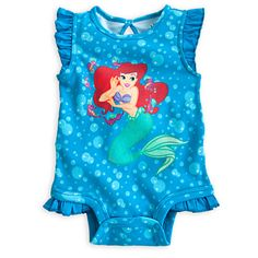 Ariel Disney Cuddly Bodysuit for Baby Disney Baby Clothes, Baby Kids Clothes, Baby & Toddler Clothing, Toddler Outfits, Summer Clothes, Disney Princess Babies, Baby Princess, Baby Disney, Ariel Disney