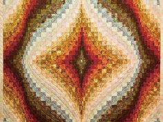 King Hand Painted Diamond Bargello Quilt Photo 3