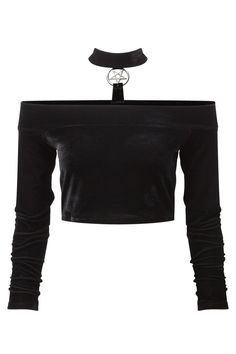 Nouveau produit : Black velvet top pentagram choker on back Mortuary Unholy Bardot KILLSTAR nugoth Vous aimez ? / New product do you like ? Gothic Outfits, Edgy Outfits, Cute Casual Outfits, Grunge Outfits, Pretty Outfits, Mode Emo, Kleidung Design, Jugend Mode Outfits, Vetement Fashion