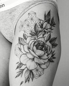 Peonies tattoo  - Janis Svars / Tattoofrequency (Riga, Latvia)