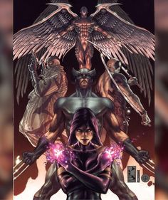 Uncanny X-Force by Simone Bianchi. Forget her partner, it's Psylocke that seems the angel of death here! Marvel Comic Universe, Marvel Comics Art, Comics Universe, Fun Comics, Marvel Dc Comics, Marvel Heroes, Marvel Characters, Captain Marvel, Ms Marvel