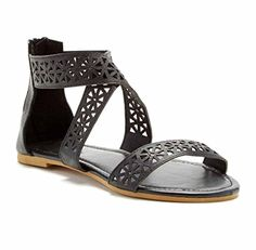 9f472424d00f1e Charles Albert Women s PERFECT Criss Cross Strap Sandal Flat with Back Zip      Check out this great image - Gladiator sandals