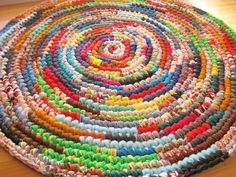 Ready To Ship Swirls of Color Crochet Round Rag Rug | Flickr - Photo Sharing!