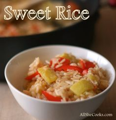 Sweet Rice with Vege