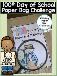 100th Day of School Paper Bag Challenge free file