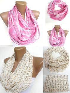 fashion 2 infinity scarf  eternity scarf cowl scarf  loop by seno, $36.00