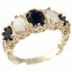 High Quality Solid 14K White Gold Genuine Natural Sapphire