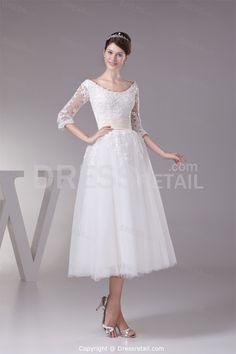Tea Length Wedding Dresses With Sleeves – Opiumsymphony.com
