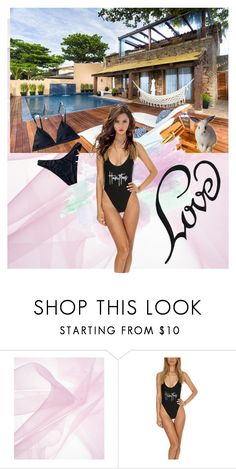 """""""on a hot summers day"""" by snow-magic ❤ liked on Polyvore featuring beauty, Private Party, Summer, black, bikini and pool"""