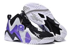 2a0145b1cab0 Reebok Kamikaze II Mid Mens Fashion Sneaker Basketball Purple Black White  Lastest SJMbx