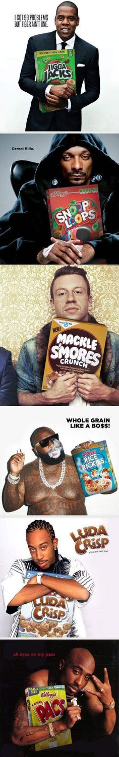 Rapper endorsed cereals - idk if it's actually that funny but I laughed so hard