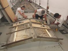 Teamwork - Skylights under the Tyvec covering - just before the Cyclone came through in March 2014!
