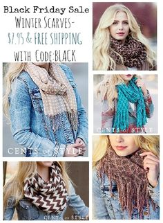 Cents of style black friday  one day only with FREE SHIPPING