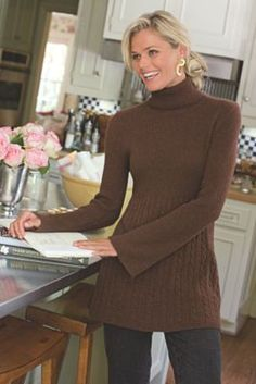 Michelle Sweater - Cashmere Tunic, Cashmere Tunic Top | Soft Surroundings