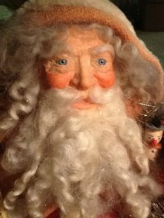 EXTREMELY *RARE * OOAK SANTA SIGNED BY LOIS CLARKSON LOADED WITH ANTIQUE TOYS