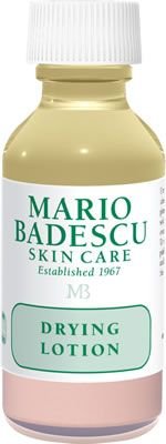 Mario Badescu: Drying Lotion. Ok so to be honest I was really skeptical about this stuff to begin with but last night I could feel a nasty pimple coming through and I dabbed a tiny bit over top of it and this morning my skin is flawless. This is definitely a product every man woman and child (of adolescent age) should own!!!