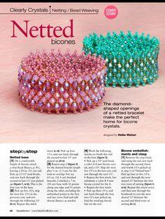 Схемы: Браслеты. Архив Beads and Button апрель 2013