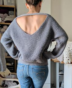 cb34df72ed66bd No Purls Sweater Pattern ONLY