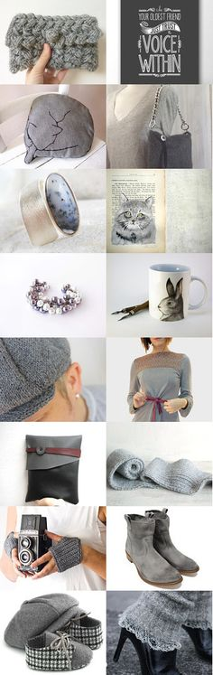 For a warm gray winter by Conny Massa on Etsy--Pinned with TreasuryPin.com