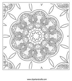 fancy mandala coloring pages - photo#10