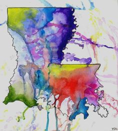 Piccsy :: Louisiana Abstract Watercolor Painting