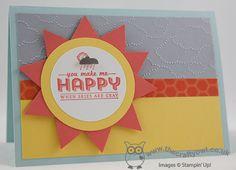 You Make Me Happy Sale-A-Bration Class Card - The Crafty Owls Blog
