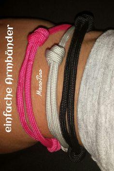 Einfache Armbänder mit Knotenverschluss Fitbit, Fashion, Simple Bracelets, Knots, Armband, Handarbeit, Moda, Fasion