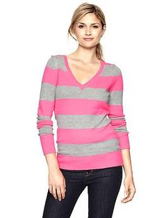 Striped V-neck sweater | Gap $34.99