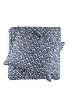 Gripsholm Marinblå Påslakanset Gusten 150x210+50x60 cm